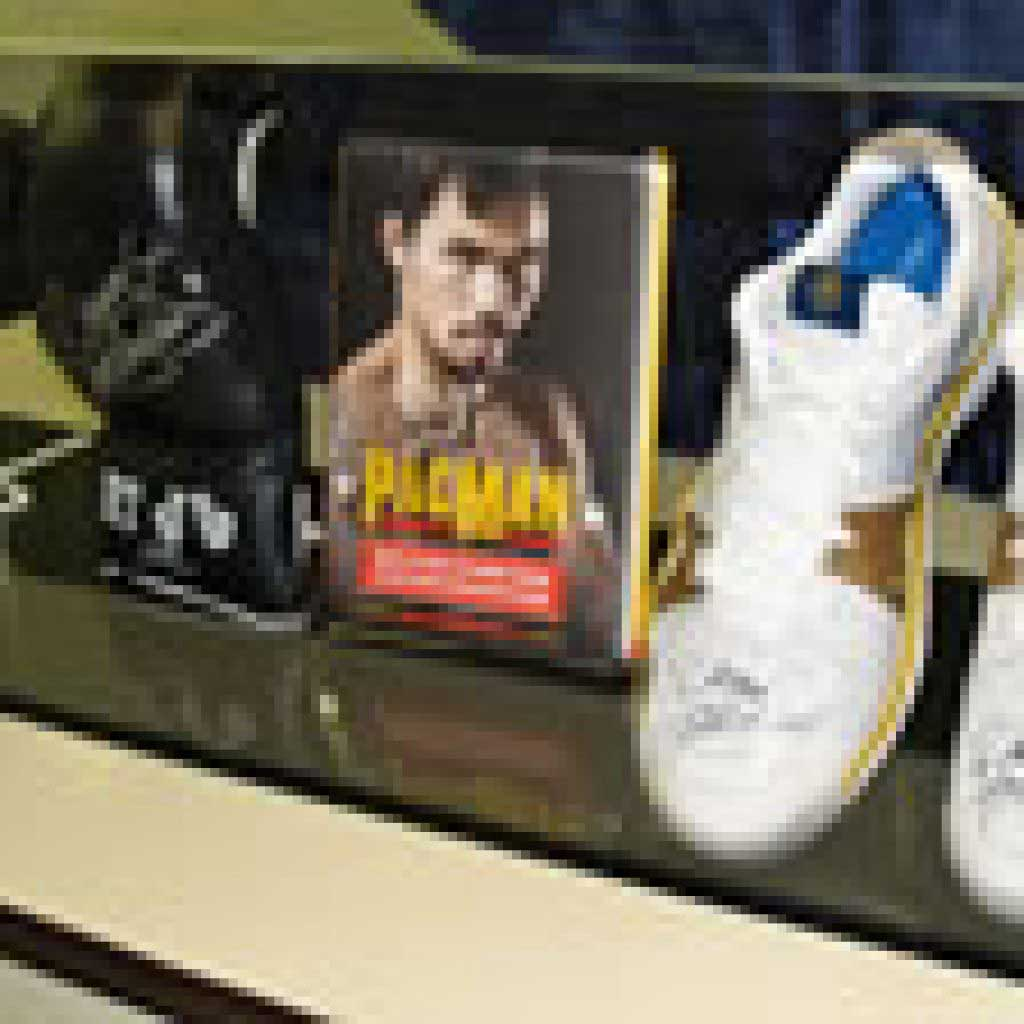Plastic Manny Pacquiao Display Case