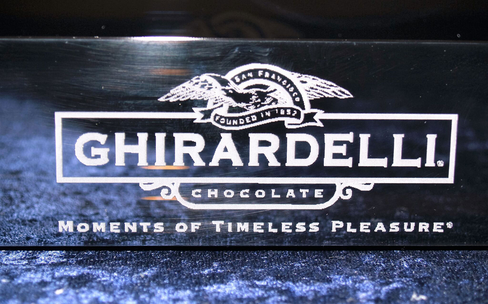 Ghirardelli etched Plastic chocolate tray
