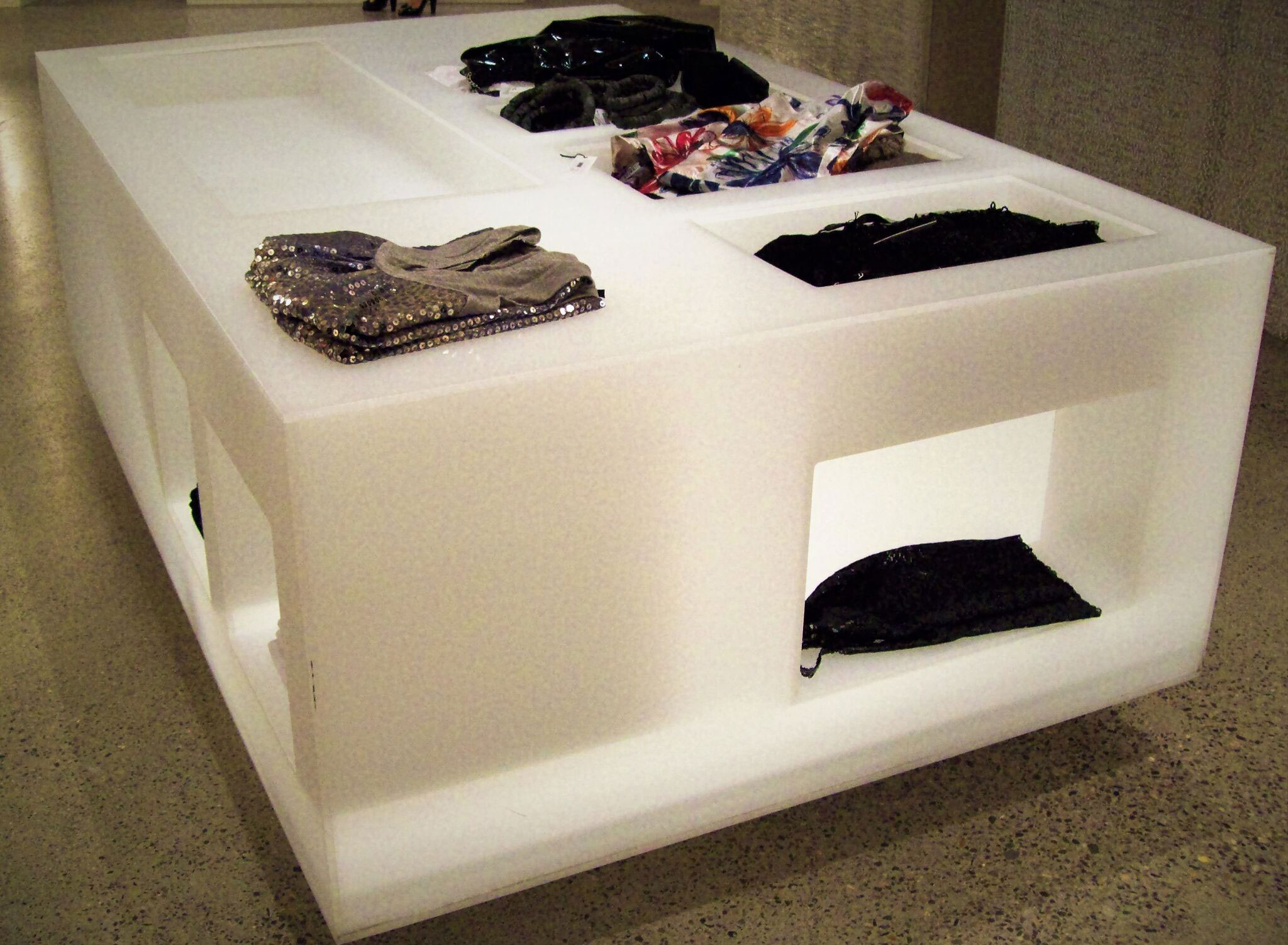Retail Display with Clothes