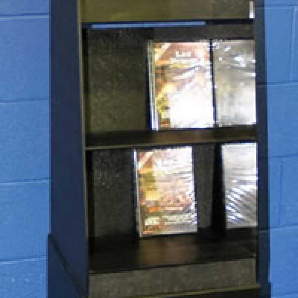 Plastic DVD Display Stand