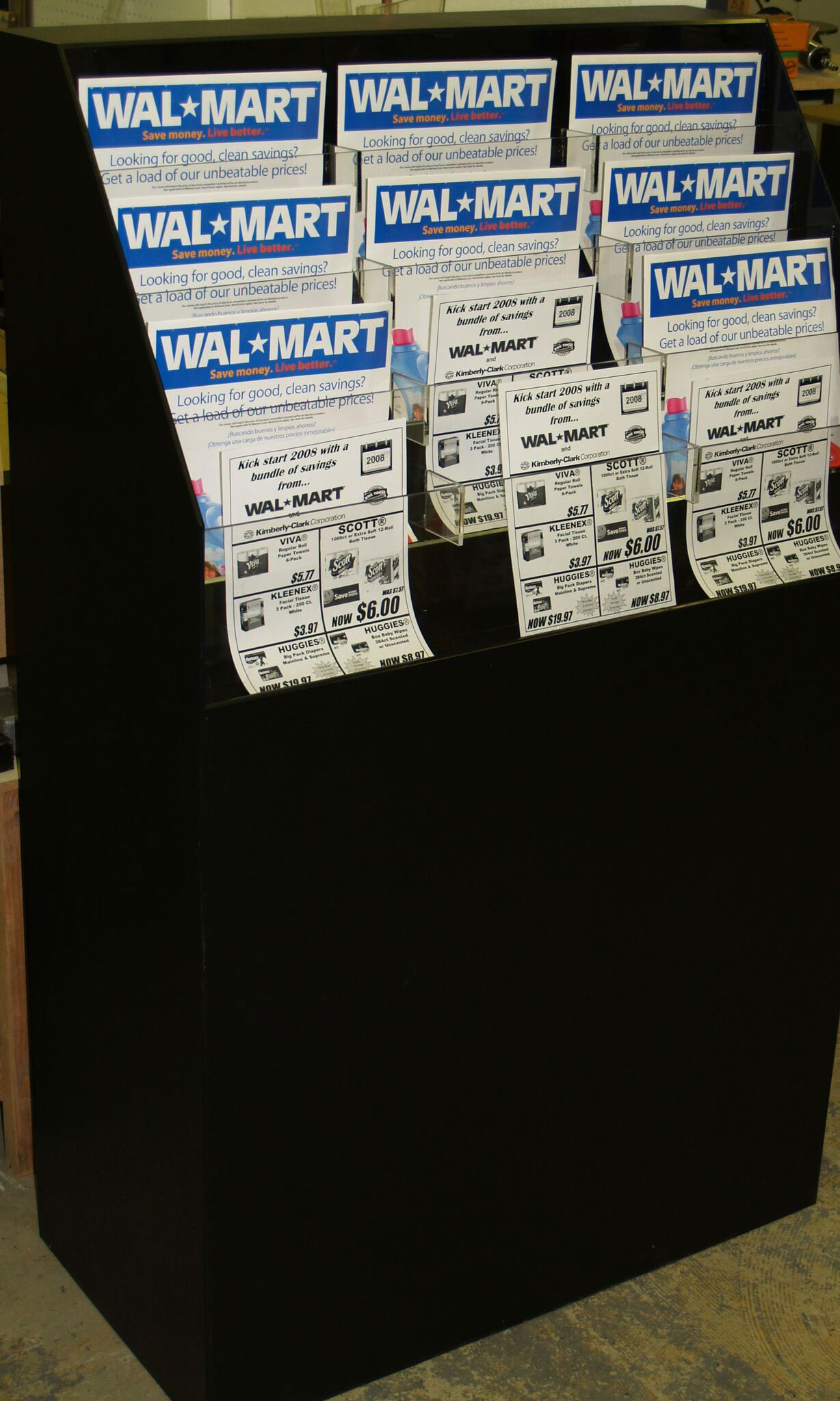 Walmart tab display