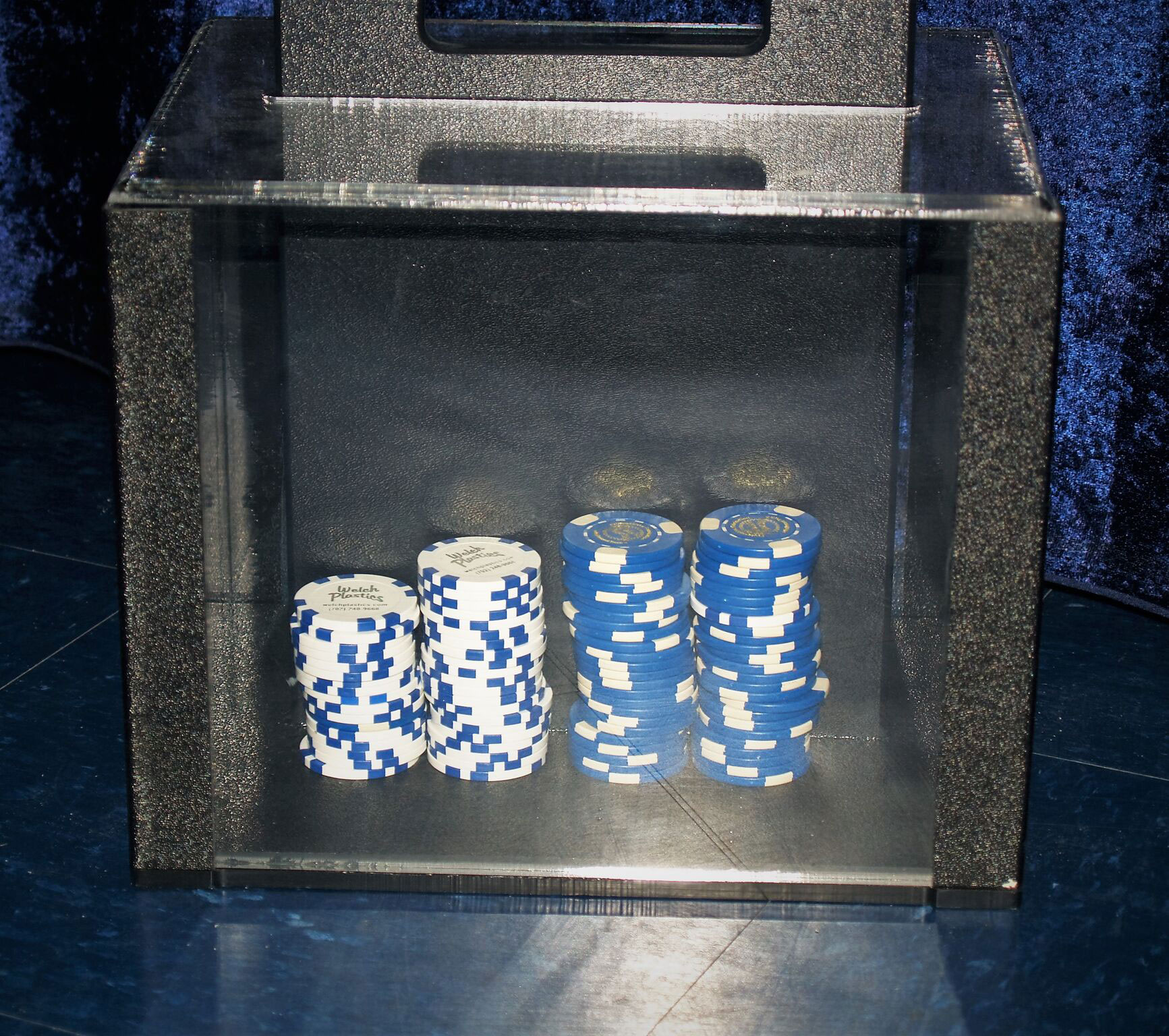 Casino Chip Case with Chips