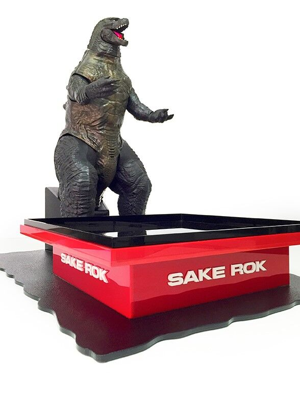 Plastic Sushi Tray With Godzilla