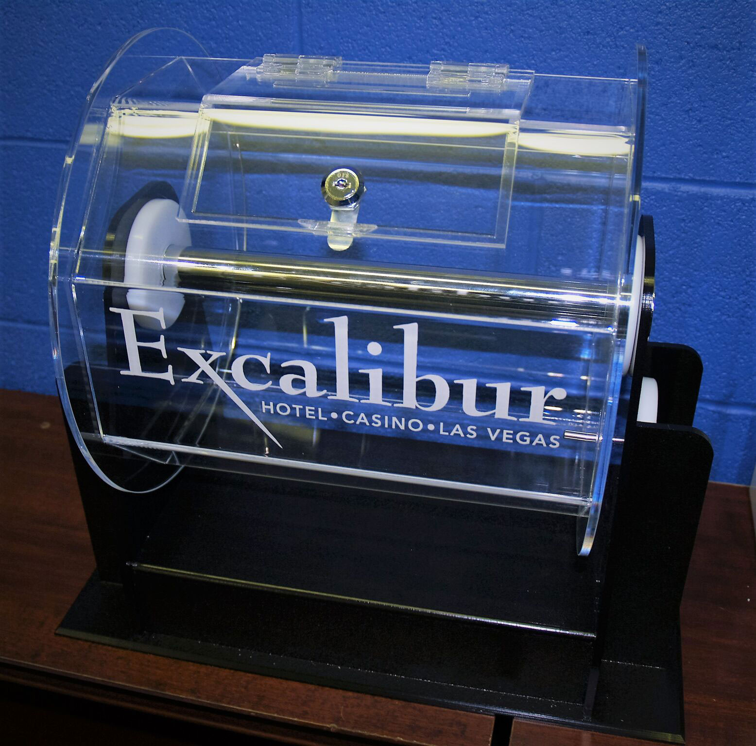 raffle drum excalibur