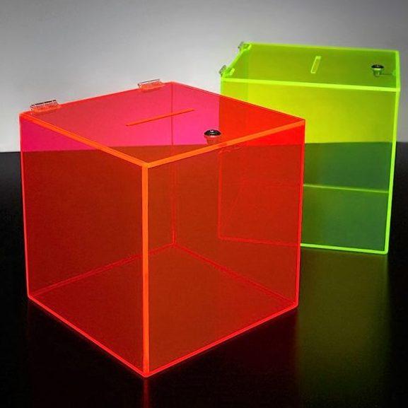Fluorescent Ballot Boxes