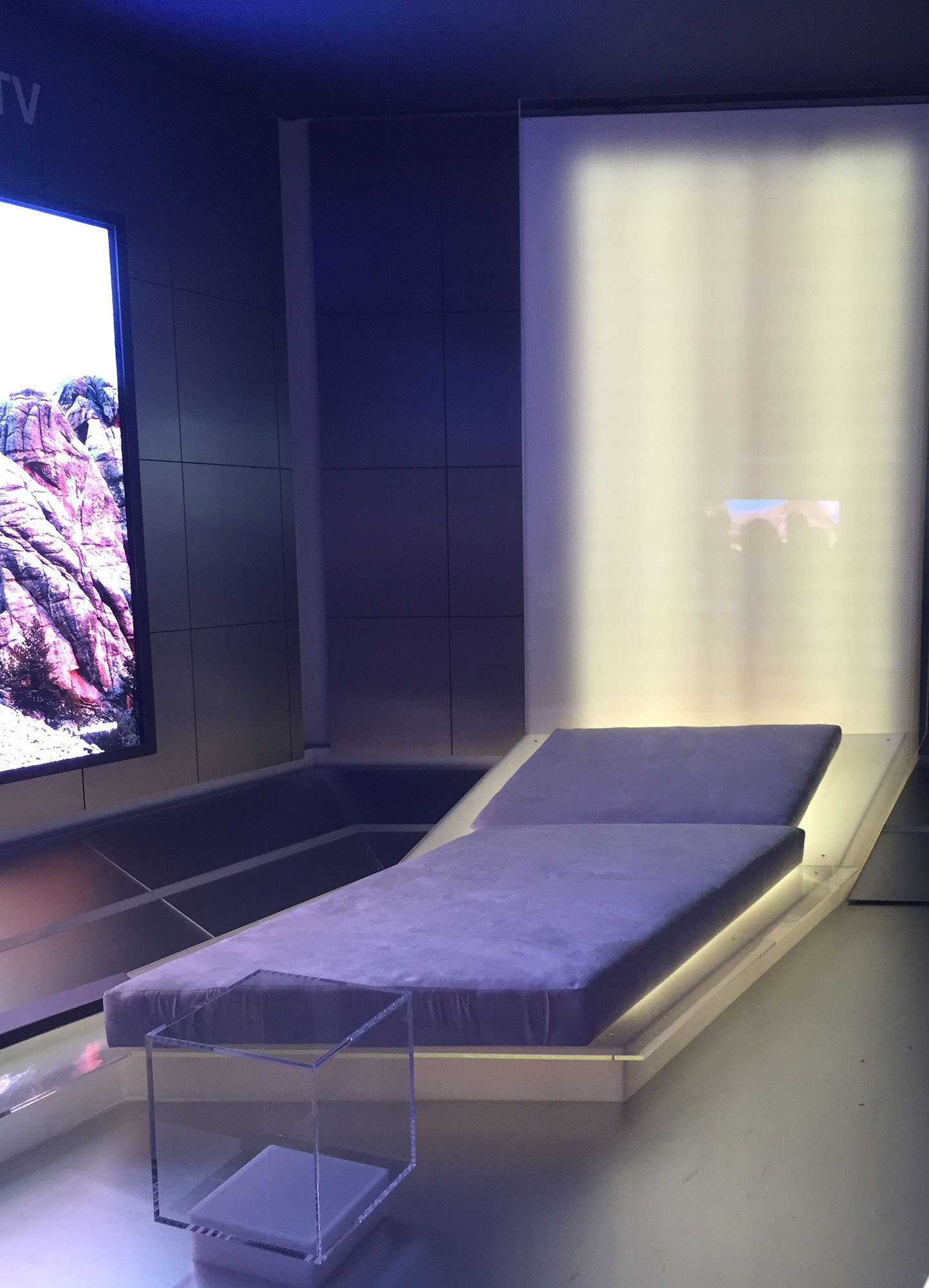 Plastic Samsung CES Bed & Seat Display