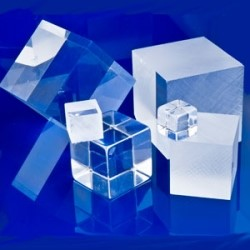 Several Plastic Clear Cubes
