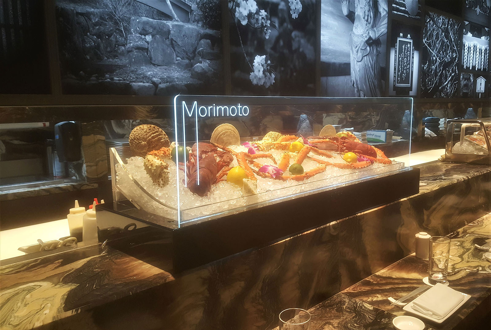 Plastic Morimoto Seafood Display Case