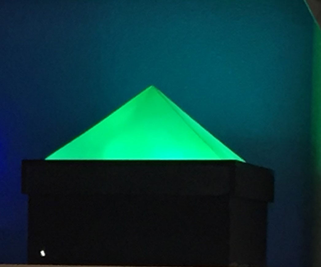 Green LED Pyramid