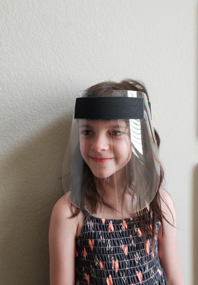 Kids Face Shield – Angle View